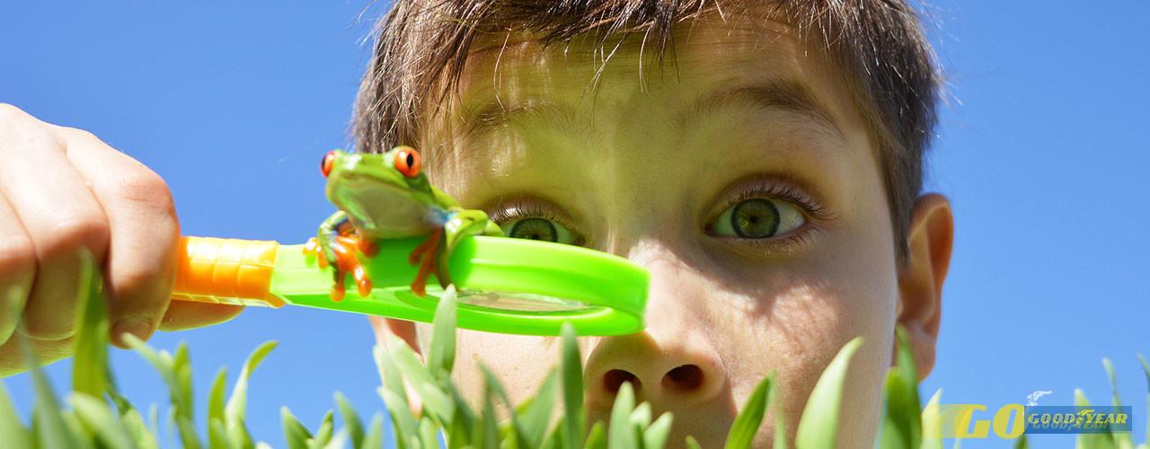 Criança na natureza