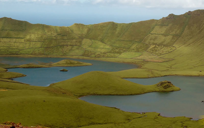 ilha do Corvo lagoa