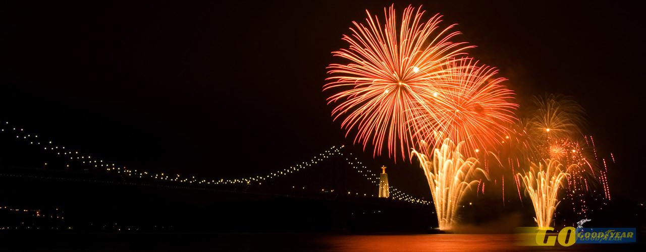 A melhor vista do fogo de artifício da passagem de ano