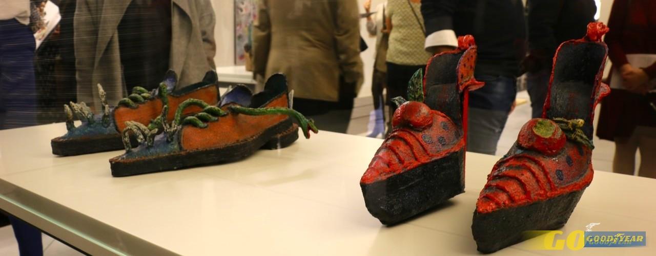 sapatos de arte - obra de António Saint Silvestre - adão e eva