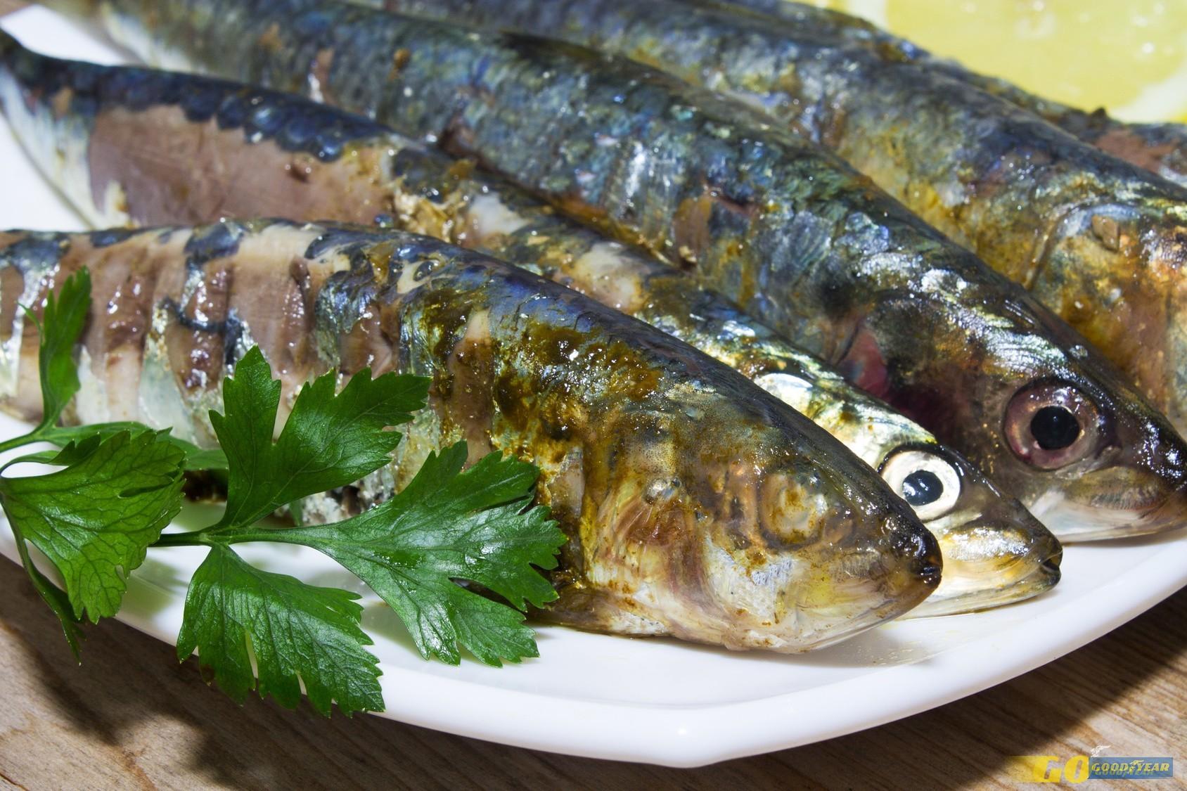 fish, grilled sardines